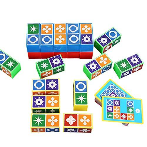 knowledgi Match Madness Board Game, reconocimiento Visual rápido para Noches de Juego con Amigos de la Familia, Juguetes a Juego para niños Juguete de Desarrollo de Inteligencia