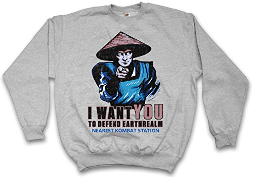 Urban Backwoods I Want You Raiden Sweatshirt Pullover Sweater Pull Gris Taille 3XL