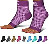 SB SOX Compression Foot Sleeves for Men & Women - BEST Plantar Fasciitis Socks for Plantar Fasciitis Pain Relief, Heel Pain, and Treatment for Everyday Use with Arch Support (Purple, Medium)