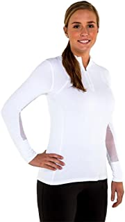 Noble Outfitters Lindsey Performance Long Sleeve Top White Large