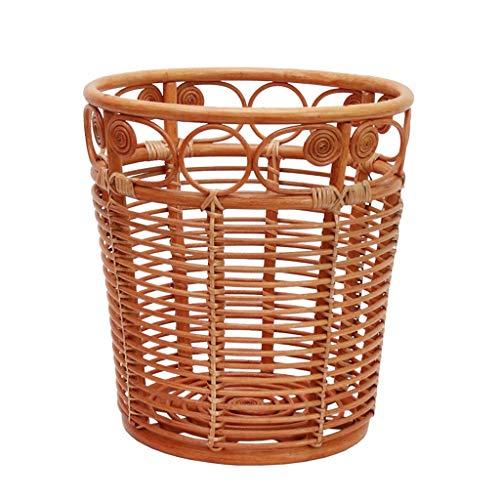 Accessoires pour lave-linges Panier à linge panier boîte de rangement porte-revues en rotin panier de rangement en rotin tambour de serviette de bain européen boîte de rangement panier à débris de sal