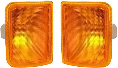 Juego de luces indicadoras laterales delanteras con bombillas de 24v adecuado para DAF IVECO