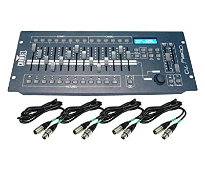 Chauvet DJ OBEY70 Obey 70 Lighting & Fog DMX-512 Controller and 10' & 25' Cables by Chauvet