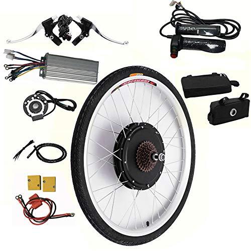 Kaibrite Kit de conversión de rueda trasera para bicicleta eléctrica de 26 pulgadas, 48 V, motor trasero de 1000 W