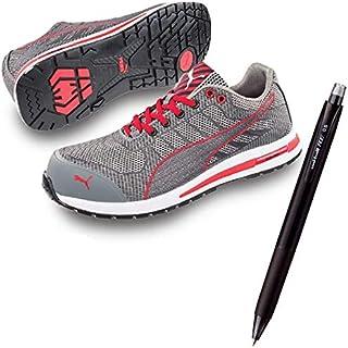 PUMA(プーマ) 安全靴 作業靴 エクセレレイト?ニット ロー 25.0cm 消せるボールペン付きセット 64.237.0