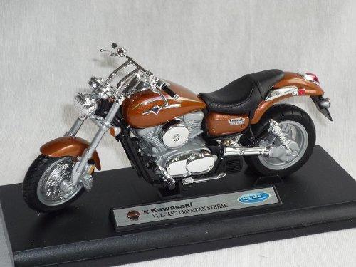 Kawasaki Vulcan 2002 1500 Mean Streak Braun 1/18 Welly Modellmotorrad Modell Motorrad