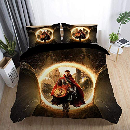 299 Duvet Cover Sets 3D Doctor Strange Printing Christmas Child Adult Bedding Set 100% Polyester Duvet Cover 3 Pieces With 2 Pillowcases D-US King264*228cm