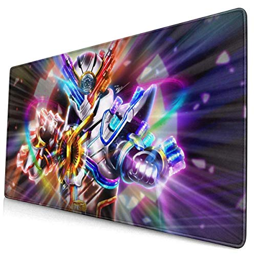 Kamen Rider Build Genius - All Great!! Genius!! 15.8x29.5 in Large Gaming Mouse Pad Desk Mat Long Non-Slip Rubber Stitched Edges