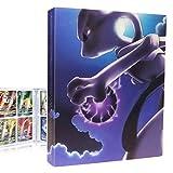 QIFAENY Porta Carte Pokemon, Album Pokemon, Raccoglitore Carte Pokémon, Album Carte Pokemon Tag GX Ex, Album per Giochi di Carte collezionabili, capacità di 30 Pagine 240 Carte (MewTwo VS Mew)