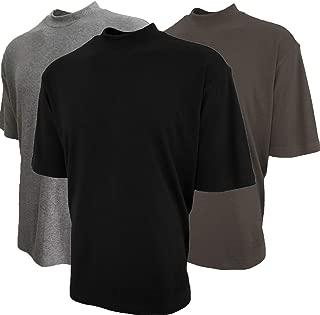 Good Life Mock Turtleneck Shirt 100% Cotton Short Sleeve Pre-Shrunk 3-Pack