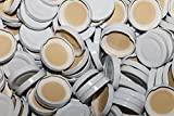 AE-GLAS 10-75 Stück Milchflaschen Deckel Twist-Off-Deckel TO48 mm Verschluss weiß für Glasflaschen (15 Stück)