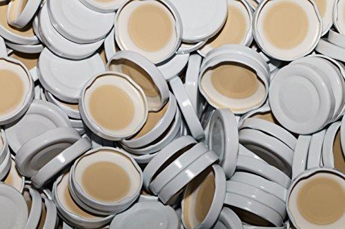 AE-GLAS Tapas para botellas de leche (10-75 unidades, 48 mm), color blanco