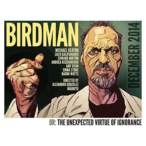 NRRTBWDHL Birdman - Michael Keaton Hero 2015 Film-Wandaufkleber Poster Licht Leinwand Dekoration Wanddekoration Druck auf Leinwand -45x60cm Kein Rahmen