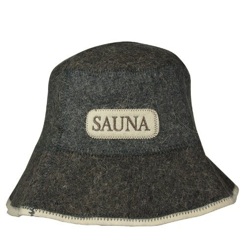 Saunahut mit *SAUNA* Stickerei, aus Filz (Filzkappe, Saunamütze) 100%Filz