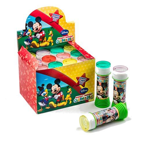 profesional ranking SUPERBOOM – Bomba de burbujas de Mickey Mouse – 12 piezas de 60 ml cada una elección