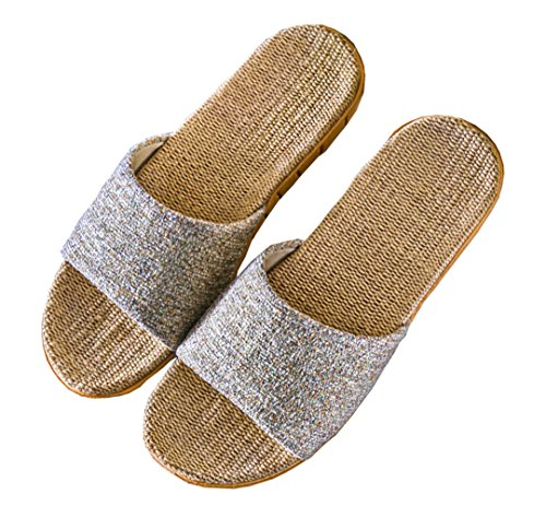Percenter Unisex Room Shoes, For Spring & Summer, Slippers, Indoor Shoes, Silent & Lightweight, Linen, Cute, Non-slip, For Guests, Gifts - -
