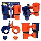 Robo Cup portavasos para la Barra de Bebidas caña de Pescar en Barco Playa Carrito de Golf Silla de Ruedas Andador Baquetas micrófono Naranja y Azul Marino