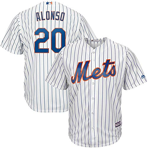 OuterStuff Pete Alonso New York Mets #20 White Kids 4-7 Cool Base Home Jersey (7)