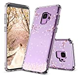 Galaxy S9 Case, Galaxy S9 Case for Girls, MOSNOVO Cherry Blossom Floral Printed Flower Pattern Clear Design Transparent Case with TPU Gel Bumper Protective Case Cover for Samsung Galaxy S9 (2018)