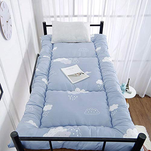 Kid Mattress for Floor with Cartoon Printed,Japanese Floor Futon Mattress for Student Dormitory,Roll Up Tatami Mat Floor Lounge Bed Kids Sleeping Pad,Clouds,100x190cm(39 * 74inch)