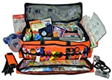 Lightning X Jumbo O2 Medic First Responder EMT/EMS Bag Stocked Trauma Kit (Orange)