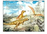 2004 Dinosaurs, Hadrosaurus and Others, Collectible Sheet of 4 Stamps, Mint Never Hinged