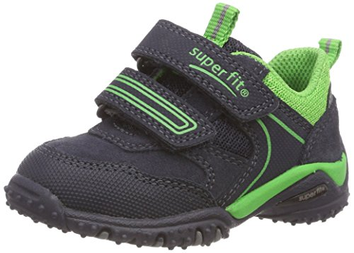 Superfit Baby Jungen SPORT4 Mini Sneaker, Blau (Blau/Grün 80), 30 EU