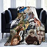 ZEMIOF Thomas Brodie Sangster Fleece Blanket Lightweight Super Soft Cozy Luxury Bed Blanket Microfiber