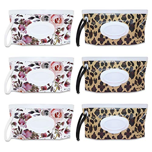 Wet Wipe Pouch Bags Reusable Wipes Holder Tissue Bag Container Travel Dispenser Cases