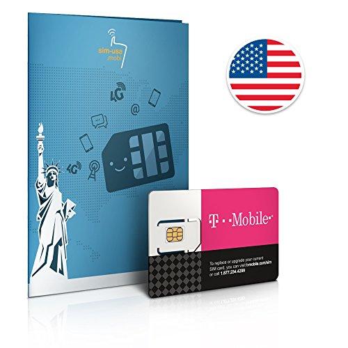 Prepaid Sim-Karte USA - 10GB 4G LTE - Unbegrenzte Anrufe und Sms - 30 Tage