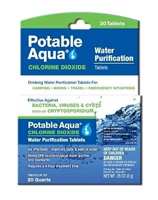 Potable Aqua Chlorine Dioxide Water Purification Tablets