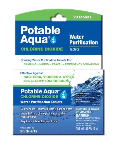 Potable Aqua Chlorine Dioxide Water Purification Tablets -...