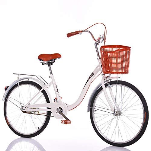 Ligero Bicicletas De Crucero 24 Pulgadas City Commuter Bicicleta De Mujeres Con...