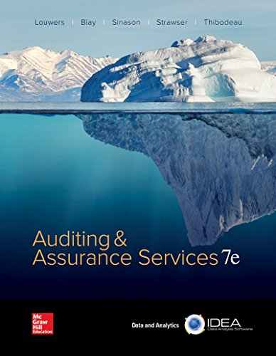Compare Textbook Prices for Auditing & Assurance Services Auditing and Assurance Services 7 Edition ISBN 9781259573286 by Louwers, Timothy,Blay, Allen,Sinason, David,Strawser, Jerry,Thibodeau, Jay