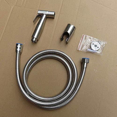 Kit de rociador de inodoro de bidé de mano - Boquilla de descarga de pistola de inodoro de acero inoxidable 304 Juego de baño de bidé