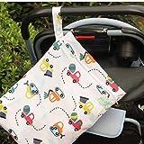 Wasserdichte Wickeltasche für Babys zum Ausgehen, Nass- und Trockentasche, Spleißtuch,...