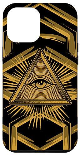 iPhone 12 Pro Max Illuminati All Seeing Eye Pyramid Society Conspiracy Gift Case