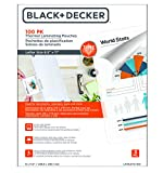 Black + Decker TimeShield Thermal Laminating Pouches, Letter - 100 Pack (LAMLET3-100)