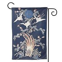 日系模様 のぼり旗 ガーデンフラッグ 両面 防風 サイン 休日を祝う 美しい 庭の装飾 アンティークの冬 ガーデンバナー ファッション 屋外装飾 贈り物