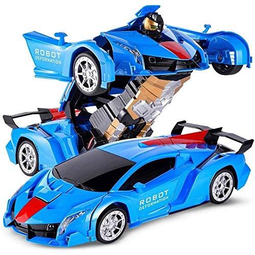 Paelf Modelo de juguete de robot de coche One Button Transfor Deformation Coche Toy Toy Remoto Control Mation Coche para niños Regalo RC RC Robotic Car Toy 2 en 1 Deformación RC Coche Transformer Jugu