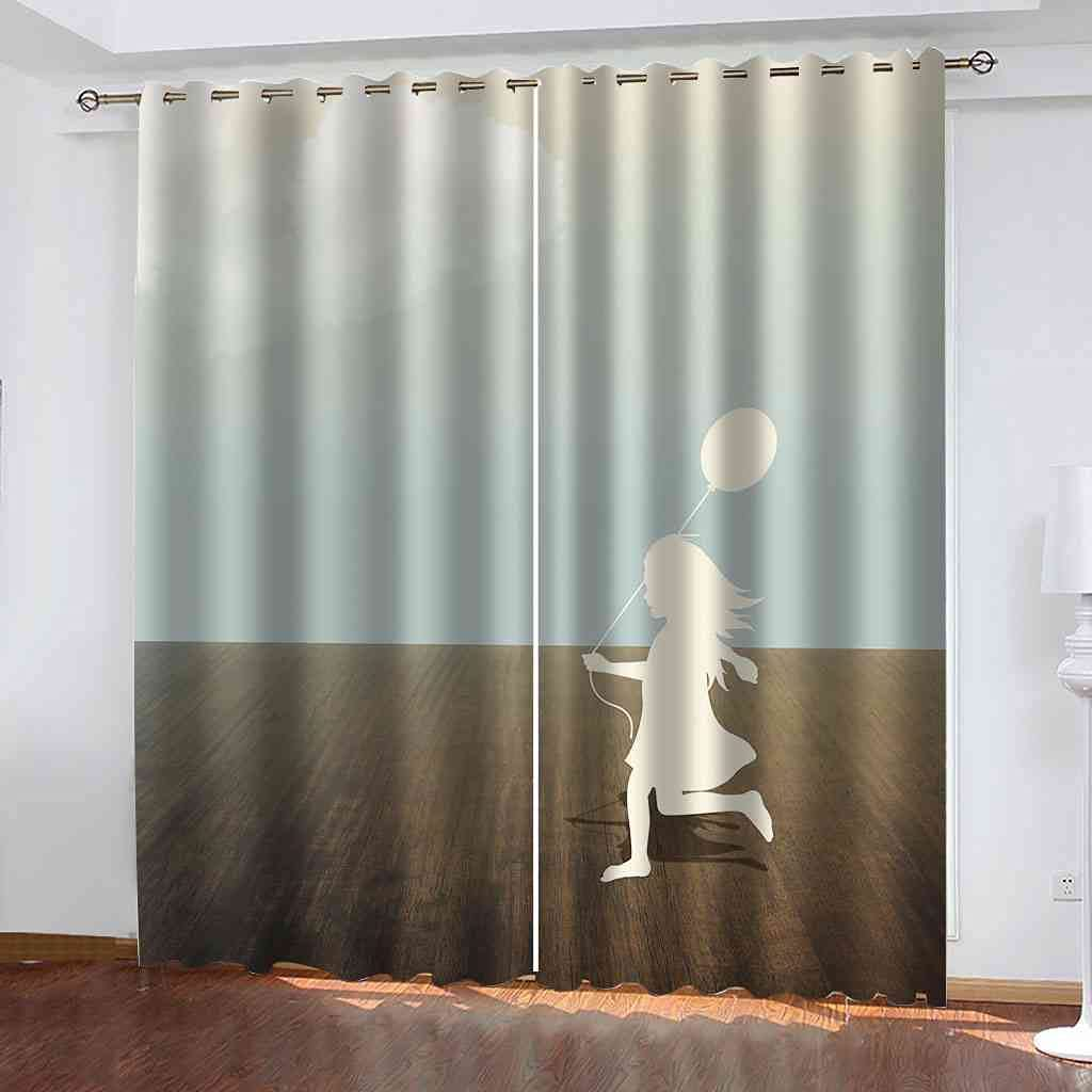 DSVNNZ Max 72% OFF Max 55% OFF Printing Blackout Curtains for 2 Cartoon Bedroom Li Panel