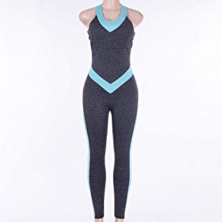NXYJD Backless Jumpsuit for Yoga Fitness Gym Sportswear Woman Sports Clothing Workout Clothes Women Tracksuit Active Wear ...