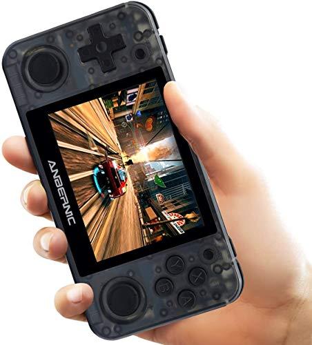 DXL RG350P Handheld-Spielekonsole mit Linux-Tony-System zum Öffnen, HDMI-Ausgang, 64-Bit-IPS-Bildschirm (3,5 Zoll), Retro-Spielekonsole mit 32G-TF-Karte In 2500 Classic Games integriert