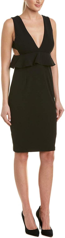 Aidan Mattox Aidan Womens Crepe Peplum Scuba Dress