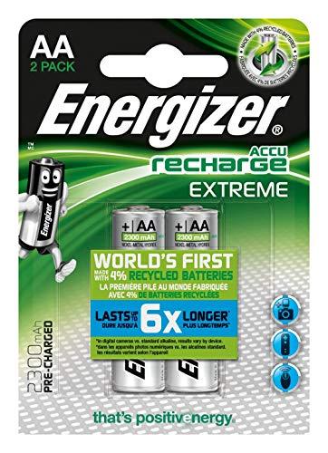 Oferta de Energizer Accu Recharge Extreme 2300 AA BP2, Acumulador AA/2 SZT, Tamaño Único, Plateado