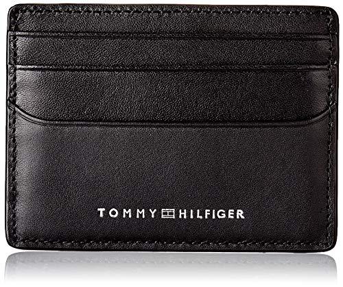 Tommy Hilfiger TH Metro, Accesorio de Viaje-Portatarjetas Tipo sobre para Hombre, Negro, Talla única