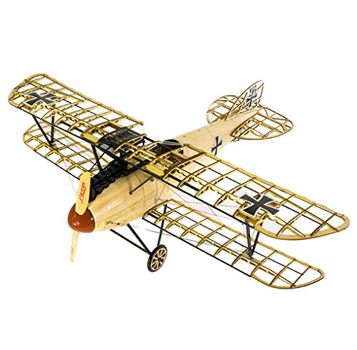 Viloga 3D Wooden Airplane Puzzle Albatross D.III Bi-Plane Model Kit, Laser Cut Balsa Wood Airplane Kits to Build for Adults, Perfect 3D Wooden Jigsaw Puzzles Aircraft Model for Birthday Gift