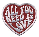Antrix All You Need is Love Military Heart Morale Patch Hook & Loop Tactical Funny Love Heart Patch -3.15'