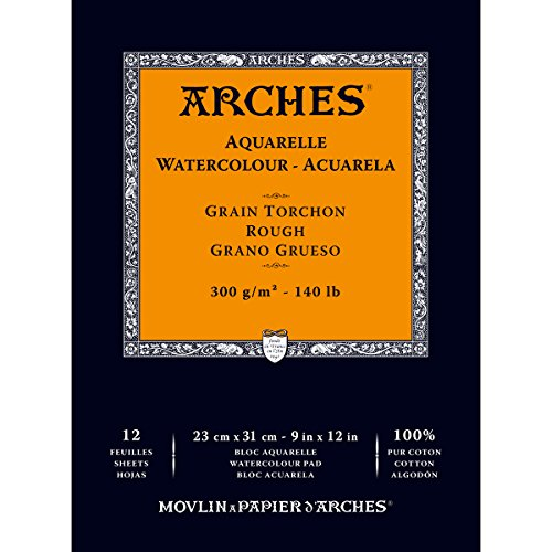 Arches Watercolor Paper Pad, 140 pound, Rough, 9'x12'