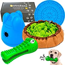 Interactive Dog Toys for Medium Large Breed Snuffle Mat Lick Mat Dental Chew Toy Food Treat Dispenser All in One Gift Puzzle Box for Mental Stimulation and Enrichment
